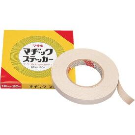 マサル工業 モール専用テープ マヂックステッカー 床面用 18mm幅 18-MS