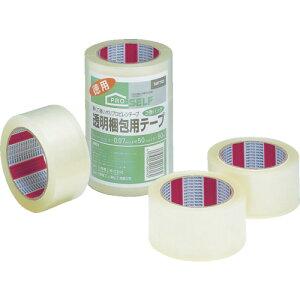 ニトムズ 透明梱包テープ 3P 50mmX50m J6040