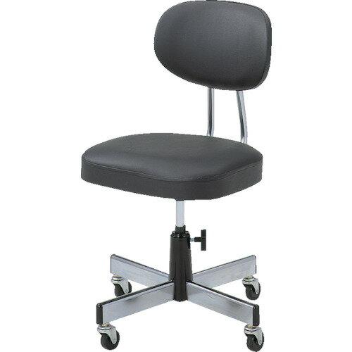 TRUSCO(トラスコ) 事務椅子 ビニールレザー張り ブラック L-2095