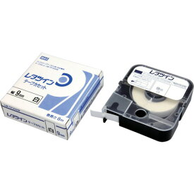 MAX(マックス) チューブマーカー レタツイン テープカセット9mm幅 白 LM-TP309W