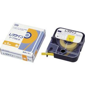 MAX(マックス) チューブマーカー レタツイン テープカセット9mm幅 黄 LM-TP309Y