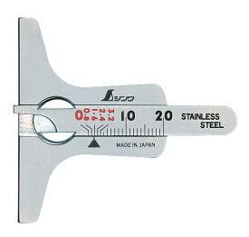シンワ測定 タイヤ溝測定ゲージ ミニデップスゲージ 19300