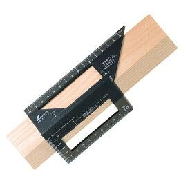 シンワ測定 一発止型定規 ポリカーボ 62112