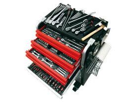 【直送・代引不可】【SK20】KTC(京都機械工具) 工具セット ローラーキャビネットタイプ 6.3/9.5/12.7sq. 220点組 シルバー×レッド×ブラック SK8020AEX