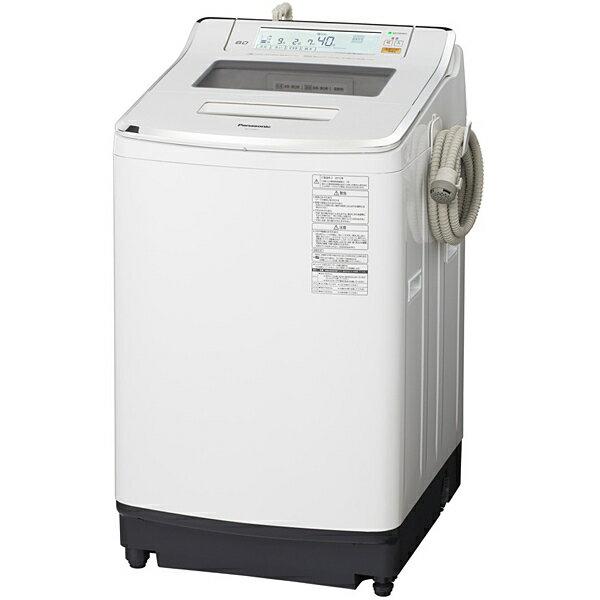 パナソニック Panasonic NA-JFA801-W [Jコンセプト 全自動洗濯機(8.0kg) 即効泡洗浄 エコナビ クリスタルホワイト]※送料無料