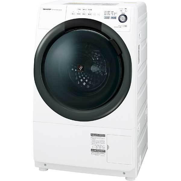シャープ SHARP ES-S7B-WL [ドラム式洗濯乾燥機(洗濯7kg・乾燥3.5kg) プラズマクラスター搭載 左開き ホワイト系]※基本配送料無料