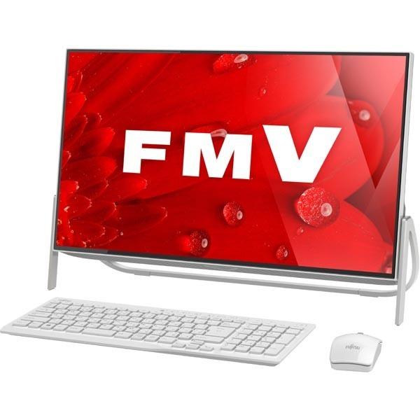 富士通 FUJITSU FMVF52B1W [デスクトップパソコン ESPRIMO FHシリーズ/23.8型ワイド/Celeron/メモリ4GB/HDD 1TB/DVDスーパーマルチ/Windows 10 Home 64ビット/Office Personal Premium/ホワイト]※送料無料