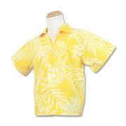 【レンタル】ハワイ・グアム・沖縄挙式、結婚式用キッズ(子供用)アロハシャツ【8.イエロー】