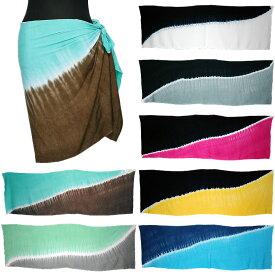 タヒチアン パレオ タヒチアンダンス 2toneカラー ハーフ ショートサイズ ネコポス対応可