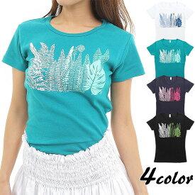 フラダンス Tシャツ 速乾加工 フライス 半袖 クプクプ柄 ネコポス対応可