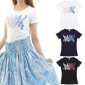 フラダンスTシャツ速乾加工半袖パイナップルフィールズ柄ネコポス対応可