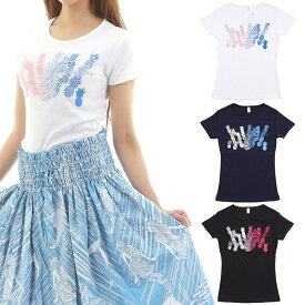 フラダンス Tシャツ 速乾加工 半袖 パイナップルフィールズ柄 ネコポス対応可
