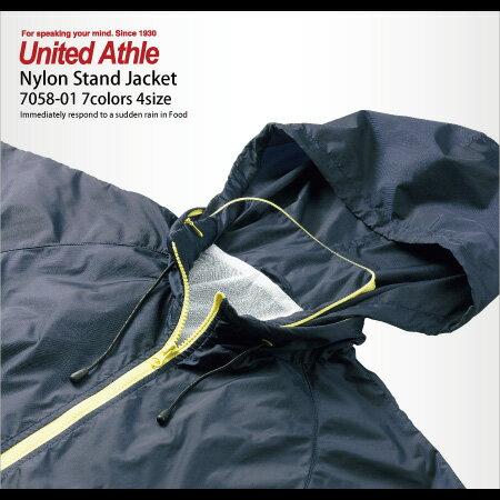 フードインで急な天候にも対応できるナイロンスタンドジャケット(フードイン)(ライニング付) | アウター ジャケット おしゃれ ナイロンジャケット シンプル カジュアル