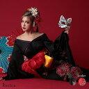 コスプレ 3点set 花魁 コスプレ 和装ドレス コスチュームセット 着物 帯 兵児帯 ブラック レッド 黒 ウェイトレス セ…