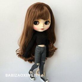 ブライス blythe ニット&パンツ 二点セット ブラック ダメージデニム 人形 ネオブライス 服 BJD 球体関節人形