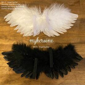人形 羽 1/6 ドール 服 白 黒 天使の羽 ホワイト ブラック 羽根 翼 はね 衣装 ブライス ドール用 アクセサリー パーツ 1/6ドール用 ネオブライス 人形 ドール用品