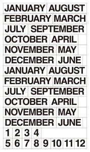 【公式】 ベーシック 月名シール B6ノート用 手帳 バレットジャーナル マイジャーナル 手作り マスキングシール スケジュール カレンダー シール ノート アルバム マスキングテープ おしゃ