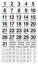 貼るだけでバレットジャーナルが簡単に作れる!1日が水曜日から始まる月のデイリーログが作れる、日付と曜日を組み合わせたマスキング素材のシールです。3000円以上お買い上げで送料無料! ベーシック・デイリー・水曜始まり