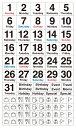 貼るだけでバレットジャーナルが簡単に作れる!1日が日曜日から始まる月のデイリーログを作れる、日付と曜日を組み合わせたマスキング素材のシールです。3000円以上お買い上げで送料無料! ベーシック・デイリー・日曜始まり