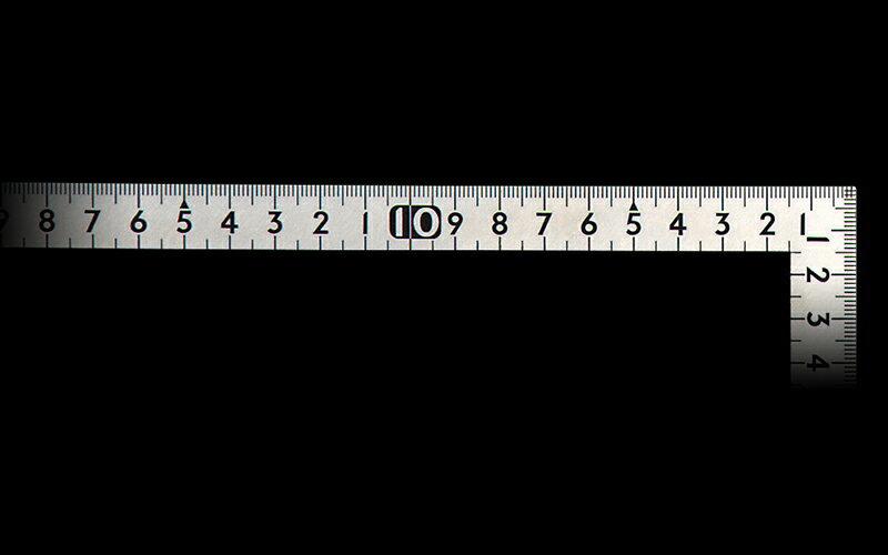 【11/24 10:00〜12/1 9:59 スマホエントリーでポイント10倍】シンワ測定 12114 曲尺小型 平 ステン 30×15cm 裏面角目