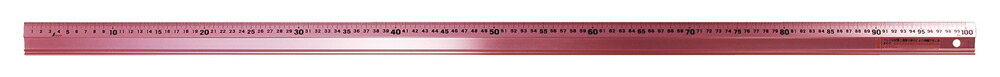 【11/24 10:00〜12/1 9:59 スマホエントリーでポイント10倍】シンワ測定 65443 アルミ直尺 アル助 1m ペールピンク