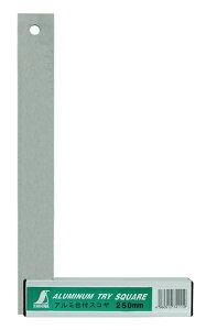シンワ測定 74111 アルミ台付スコヤ 25cm 目盛なし
