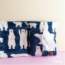 ◆かわいい ティッシュポーチ【白くま ブルー】マスクポーチ日本製 キッズ スクール 学校 安い ギフト ポケッ…