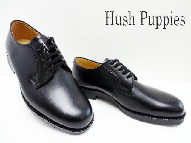 Hush Puppies(ハッシュパピー)M-800FX/クロ【送料無料】メンズビジネスシューズ/カジュアルシューズ/プレーントゥ/正規販売店/あす楽対応