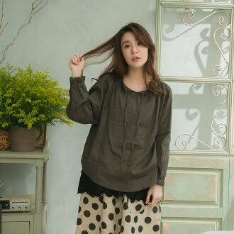 << summer percent 50 >> 100% of tops blouse linen Lady's long sleeves black black plain fabric hemp 100% linen natural material
