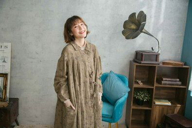 【082018】ワンピース【ベージュベイジ肌色】