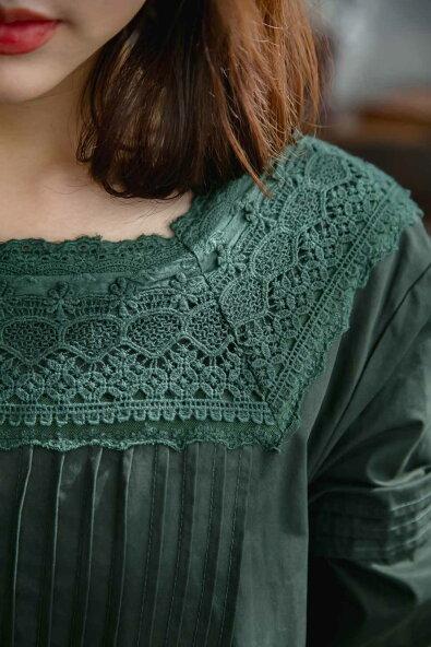 【082068】ワンピース【グリーン緑色】