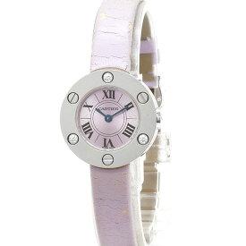 カルティエ Cartier 時計 K18WG無垢 ラブウォッチ 純正ダイヤ WE800131 クォーツ レディース 【中古】