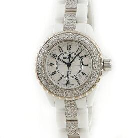 シャネル CHANEL J12 H0968 ホワイトセラミック ダイヤ レディース 腕時計クオーツ ホワイト 【中古】【店頭受取対応商品】