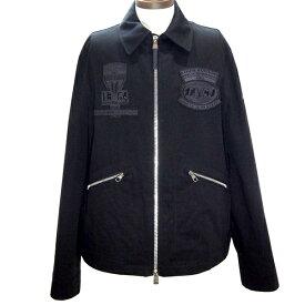 ルイヴィトン LOUISVUITTON ブルゾン モータートランクス1854 ブラック ジャケット RM171M BVQ HBB04W メンズ 定番 人気 美品【中古】