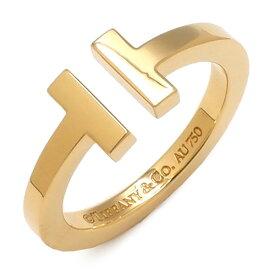 ティファニー Tiffany & Co リング 指輪 Tワイヤーリング K18YG イエローゴールド 750YG 18金 14.5号 レディース定番 人気 美品 【中古】