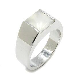 カルティエ Cartier リング 指輪 タンクリング K18WG ムーンストーン ホワイトゴールド 750WG 18金 12.5号 #53 メンズ レディース ユニセックス定番 人気 美品 【中古】