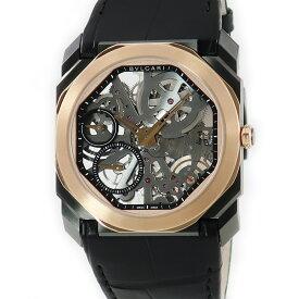 ブルガリ BVLGARI オクト フィニッシモ スケルトン BGO40BSPGLXT/SK K18PGxSS メンズ 腕時計手巻き 【中古】【店頭受取対応商品】