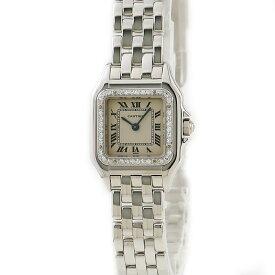 カルティエ Cartier パンテールSM WF3142F3 K18WG無垢 純正ダイヤ レディース 腕時計クオーツ シルバー 【中古】【店頭受取対応商品】