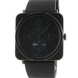 ベル&ロス BELL&ROSS スクエア BRS-98-PBC ファントム ブラック メンズ 腕時計クオーツ ブラック 【中古】【店頭受取対応商品】