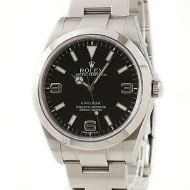 ロレックス ROLEX エクスプローラー1 214270 ランダム番 ブラックアウト メンズ 腕時計自動巻き ブラック 【中古】【店頭受取対応商品】