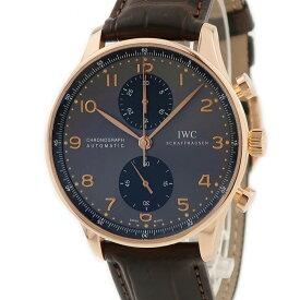 IWC ポルトギーゼ クロノ IW371482 K18RG無垢 メンズ 腕時計自動巻き グレー 【中古】【店頭受取対応商品】