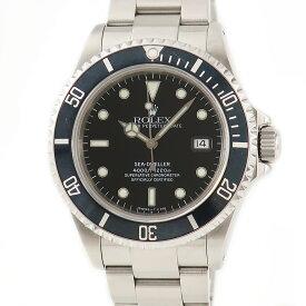 ロレックス ROLEX シードゥエラー 16600 メーカーOH済 U番 メンズ 腕時計自動巻き ブラック 【中古】【店頭受取対応商品】