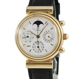 IWC ダヴィンチ クロノ IW3750 K18YG無垢 メンズ 腕時計自動巻き ホワイト 【中古】【店頭受取対応商品】