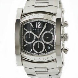 ブルガリ BVLGARI アショーマ クロノ AA48SCH ブラックタペストリー メンズ 腕時計自動巻き ブラック 【中古】【店頭受取対応商品】