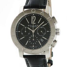 ブルガリ BVLGARI ブルガリブルガリ クロノ BB42SLCH メーカーOH済 メンズ 腕時計自動巻き ブラック 【中古】【店頭受取対応商品】