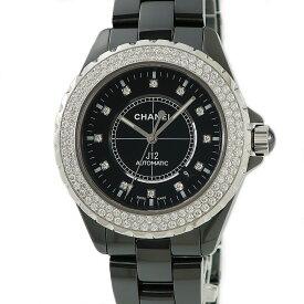 シャネル CHANEL J12 H2014 純正ダイヤ ブラック メンズ 腕時計自動巻き ブラック 【中古】【店頭受取対応商品】