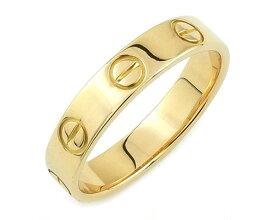カルティエ Cartier リング 指輪 ミニ ラブリング ラブ LOVE K18YG 750 18金 イエローゴールド #49 8.5号相当 レディース メンズ 女性用 男性用 定番 人気 美品【中古】