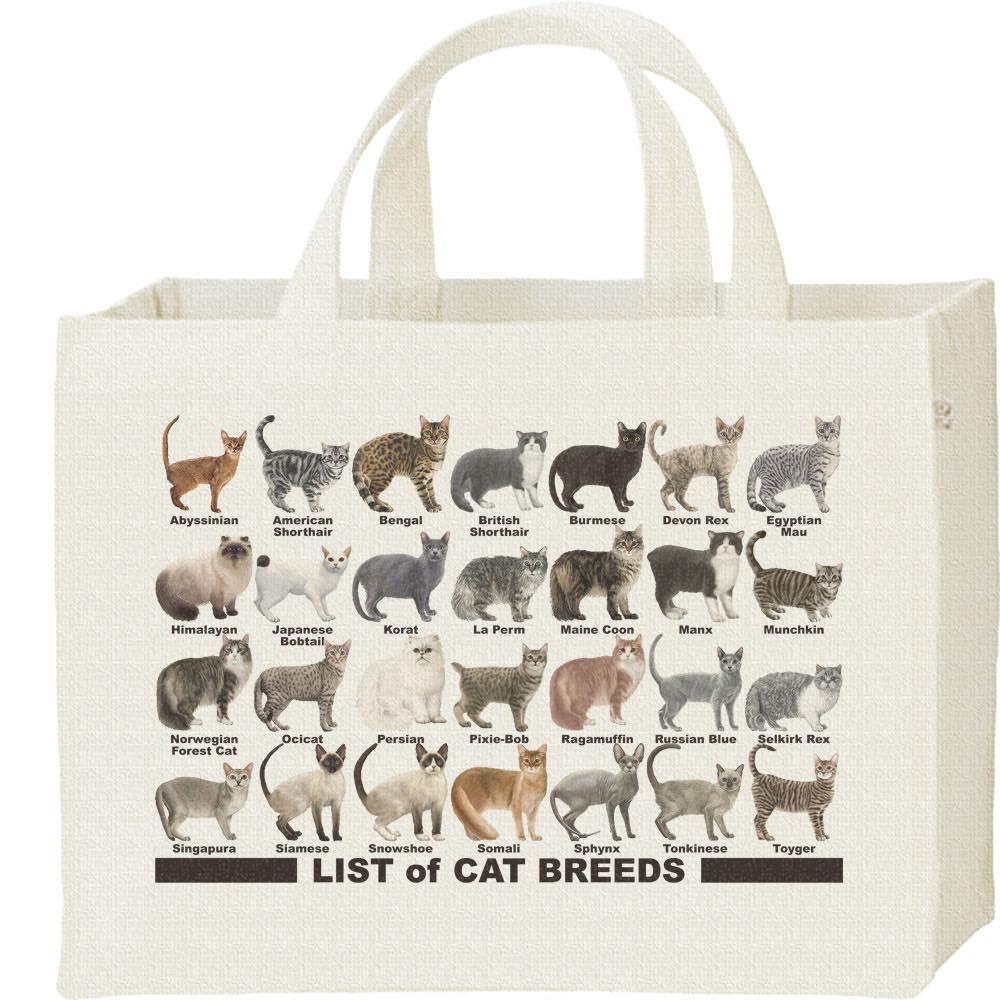 猫のリスト/キャンバスバッグ・スクエア