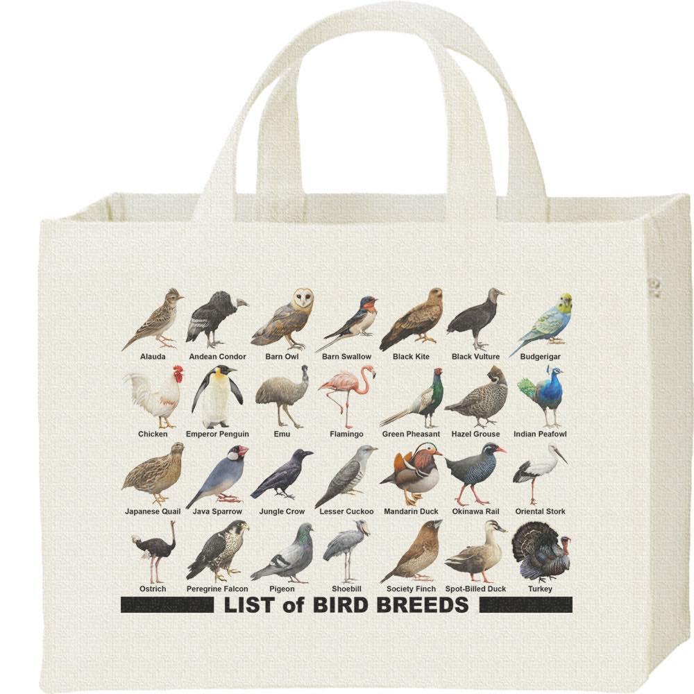 鳥のリスト/キャンバスバッグ・スクエア