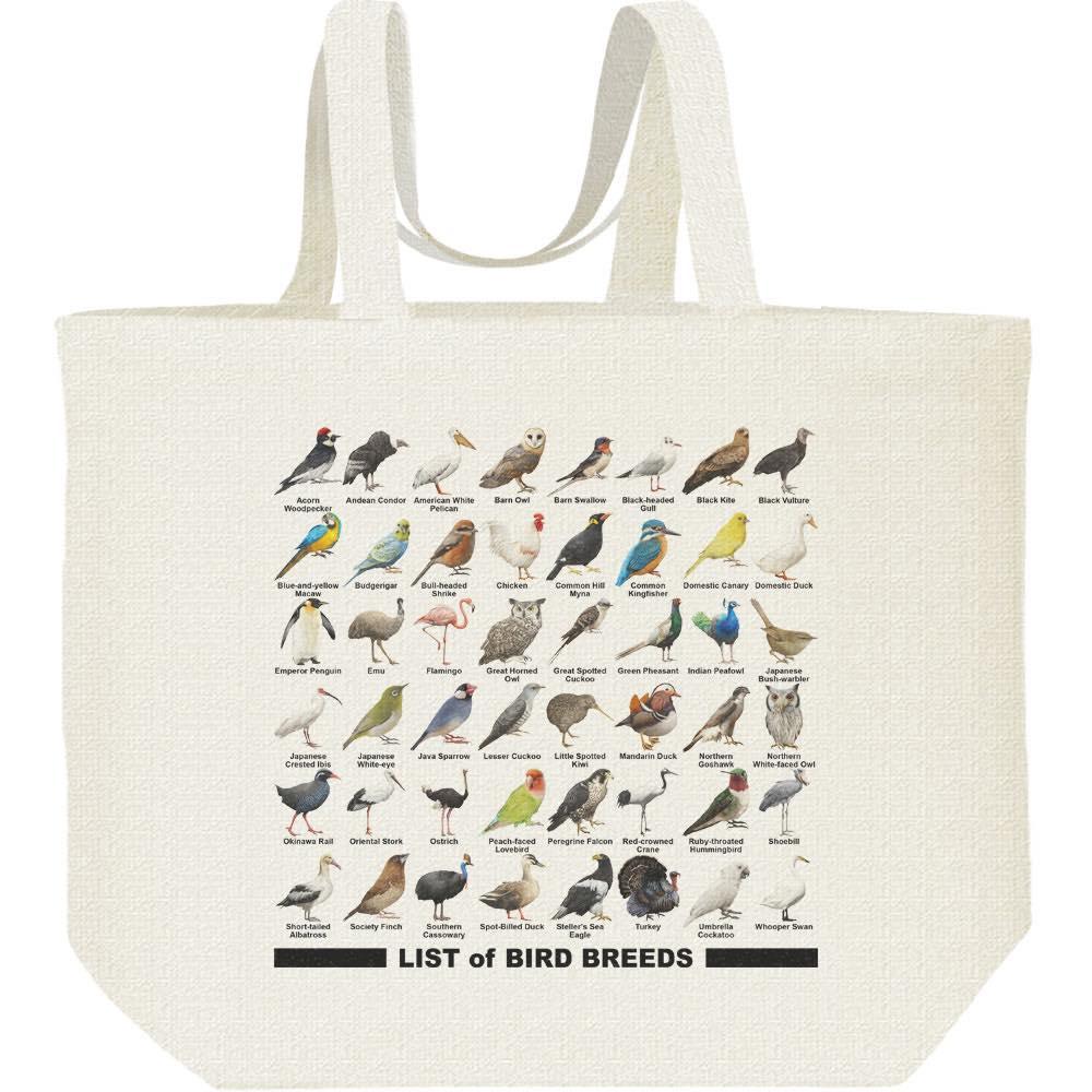 鳥のリスト/キャンバスバッグ・L(エコバッグ)